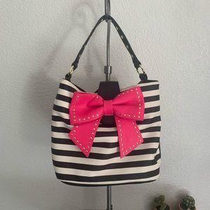Betsey Johnson | Hopless romantic studded bow bag